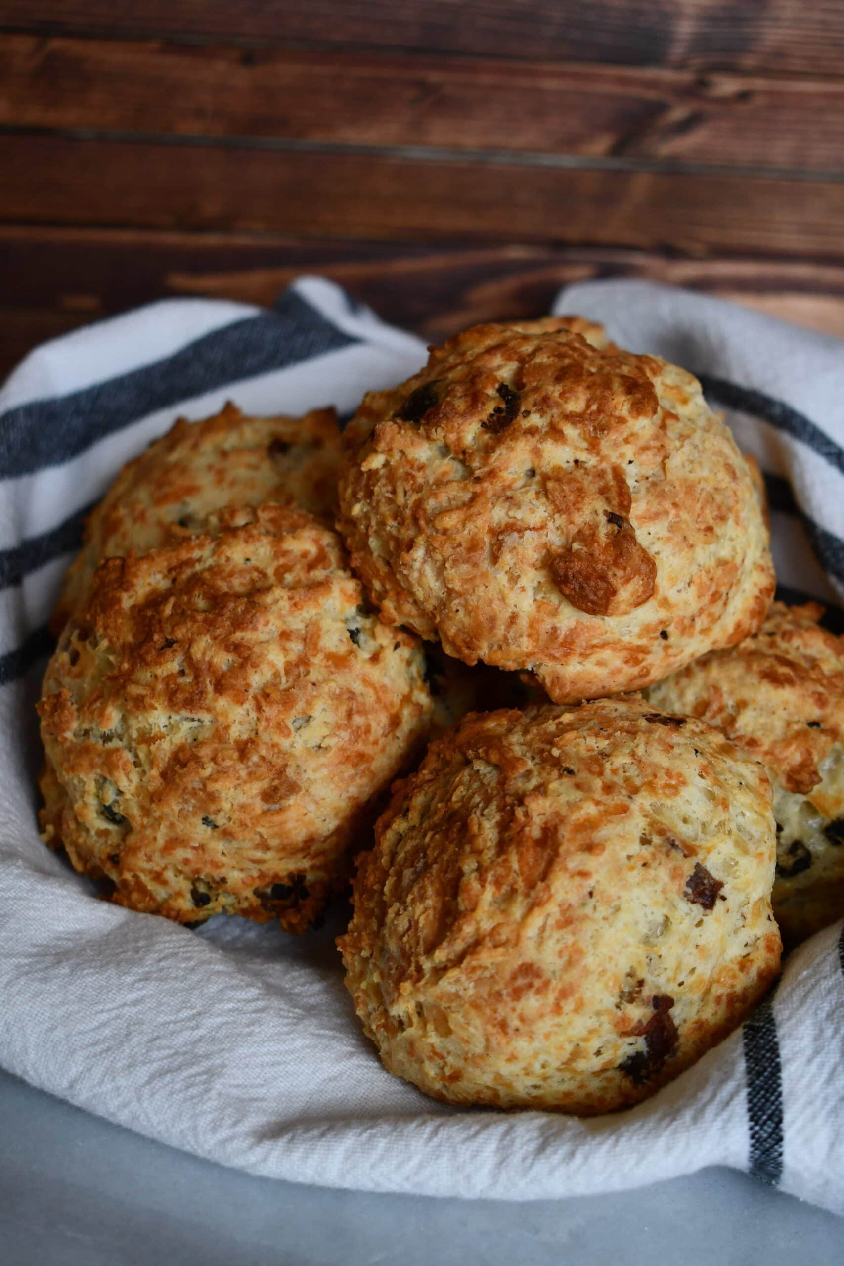 Bacon and Gruyère Drop Biscuits from the Magnolia Table Cookbook Prepared by KendellKreations