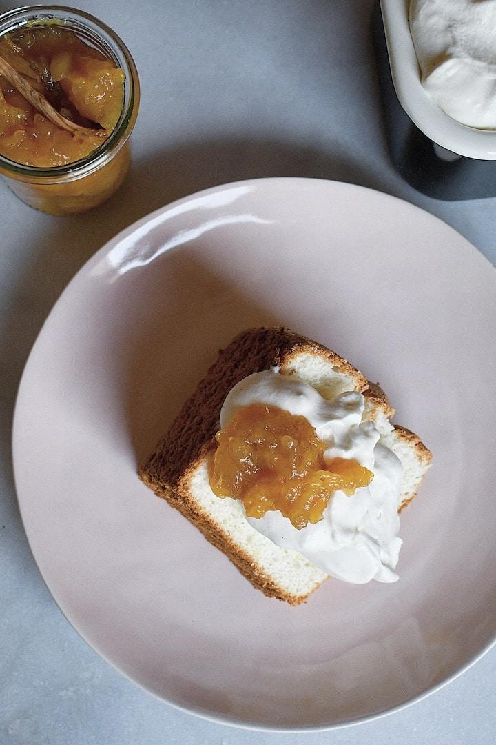 Lemon Angel Food Cake from the Magnolia Table Cookbook Prepared by KendellKreations