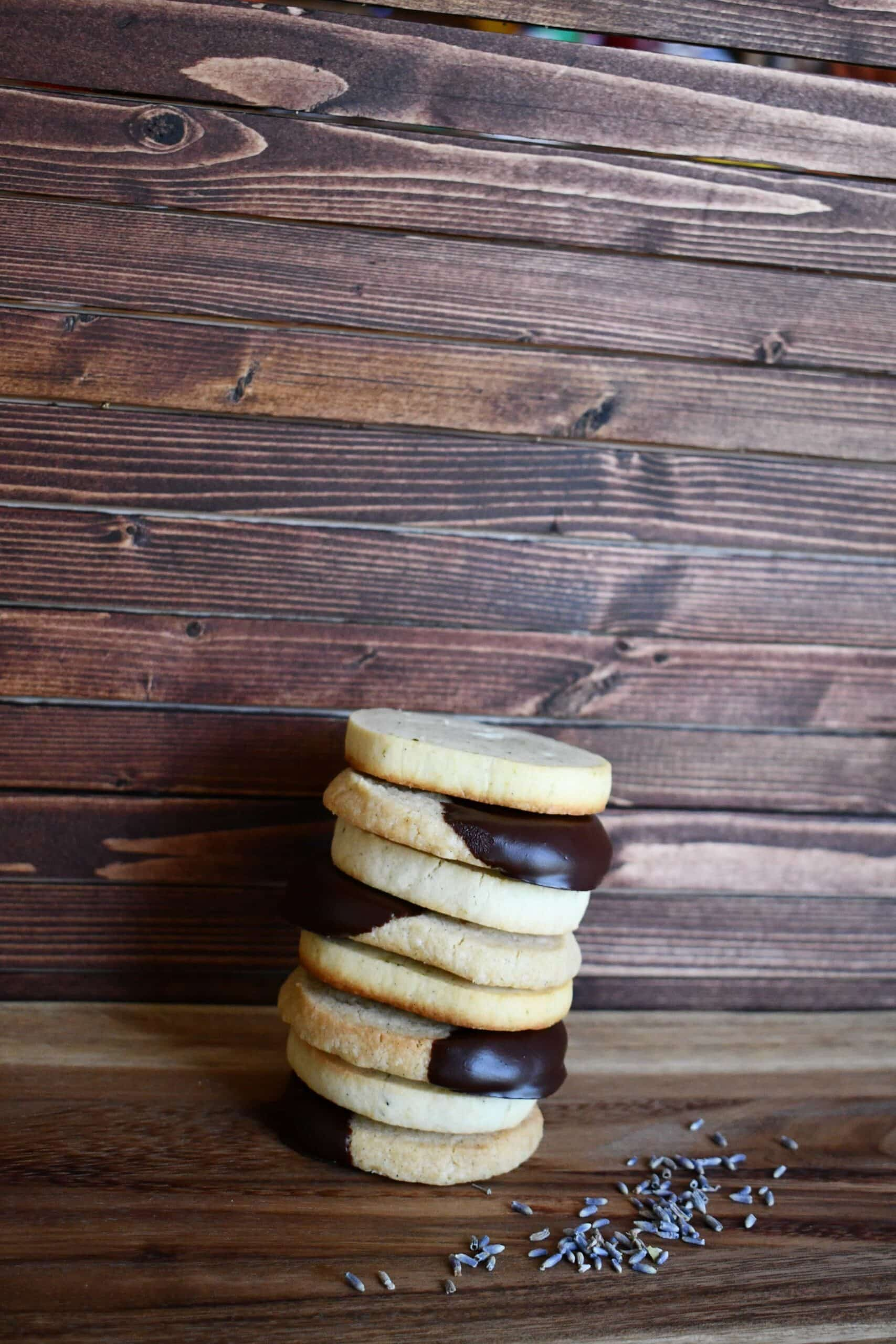 Chocolate Dipped Shortbread Cookies from the Magnolia Table Cookbook Prepared by KendellKreations