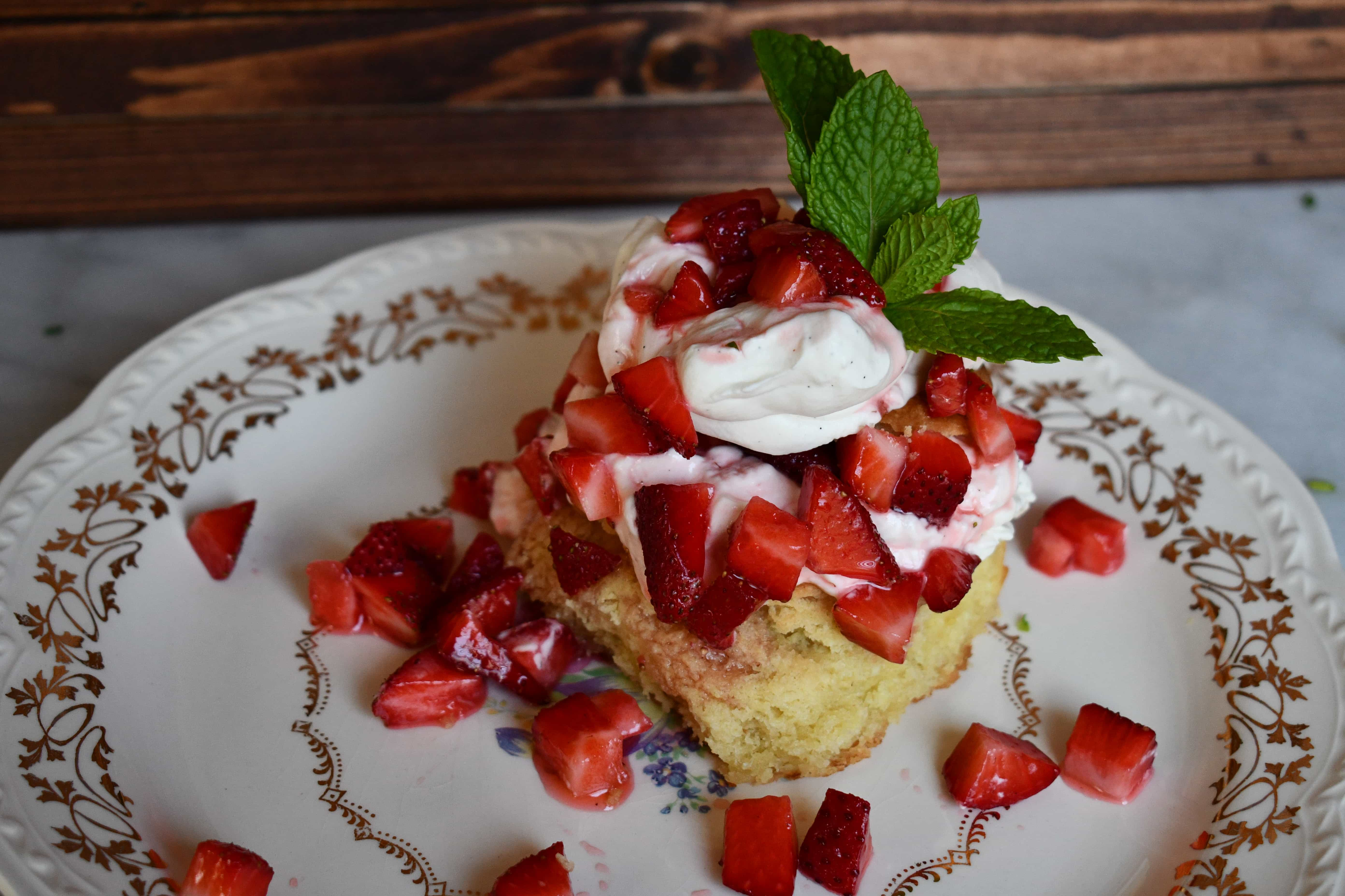 Joanna Gaines Strawberry Shortcake and Homemade Whipped Cream from the Magnolia Table Cookbook