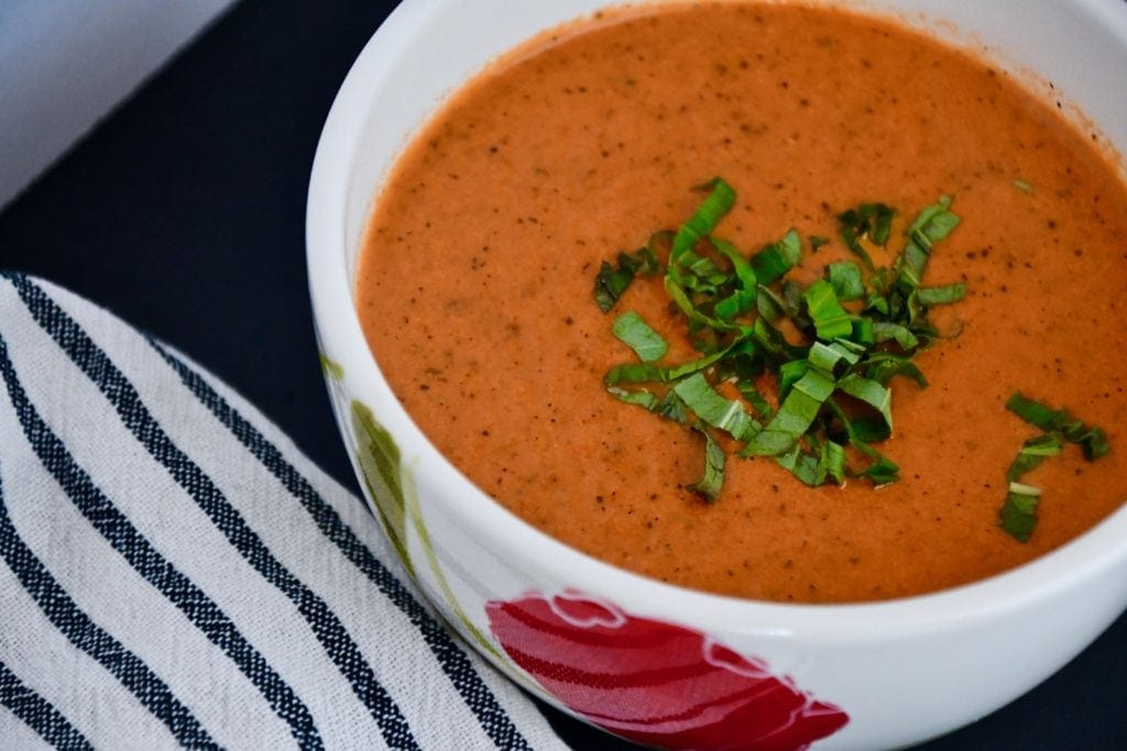 Joanna Gaines Tomato Basil Soup from the Magnolia Table Cookbook Vol. 1, prepared by KendellKreations.com