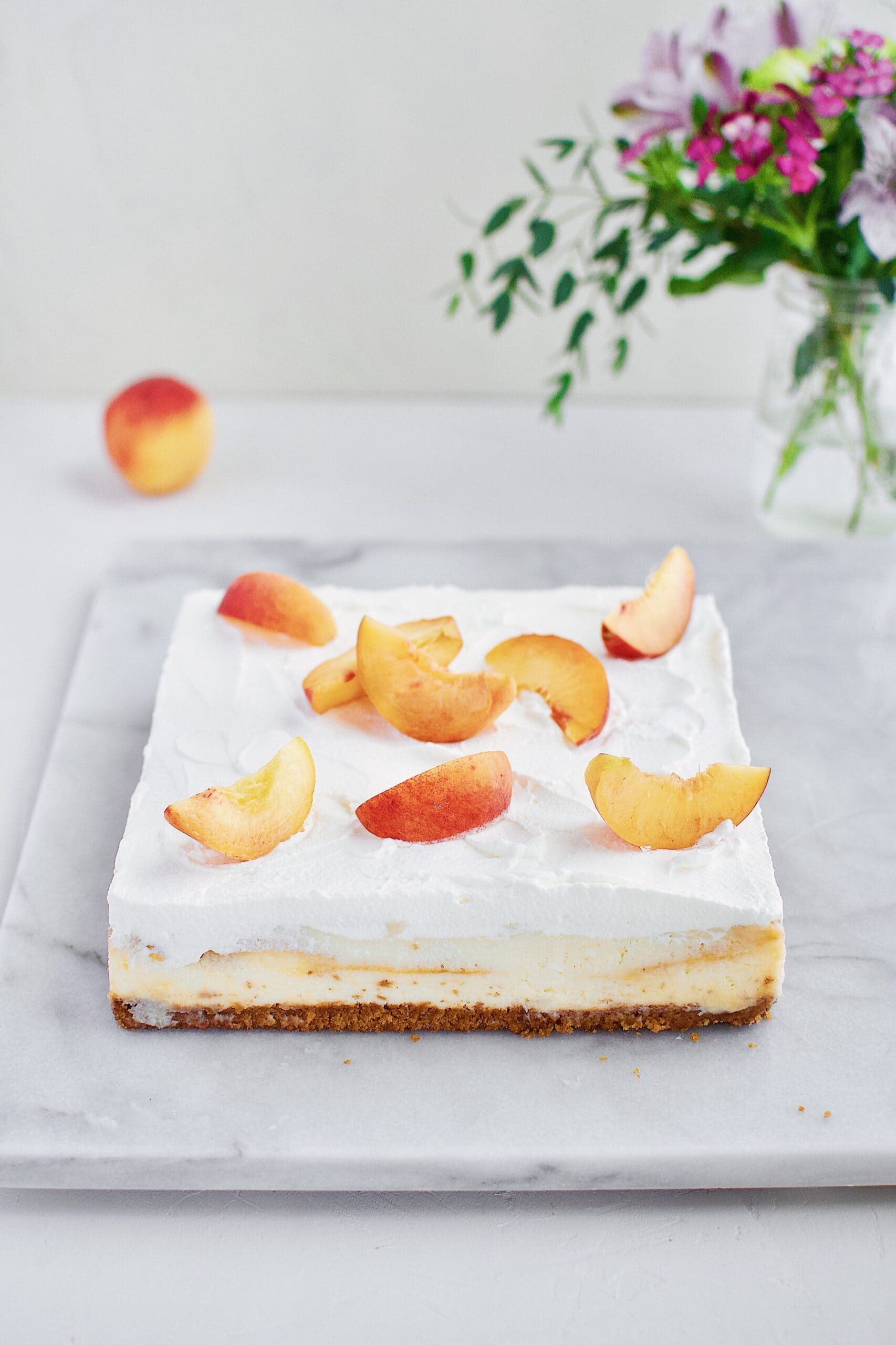 Peaches and Cream Cheesecake