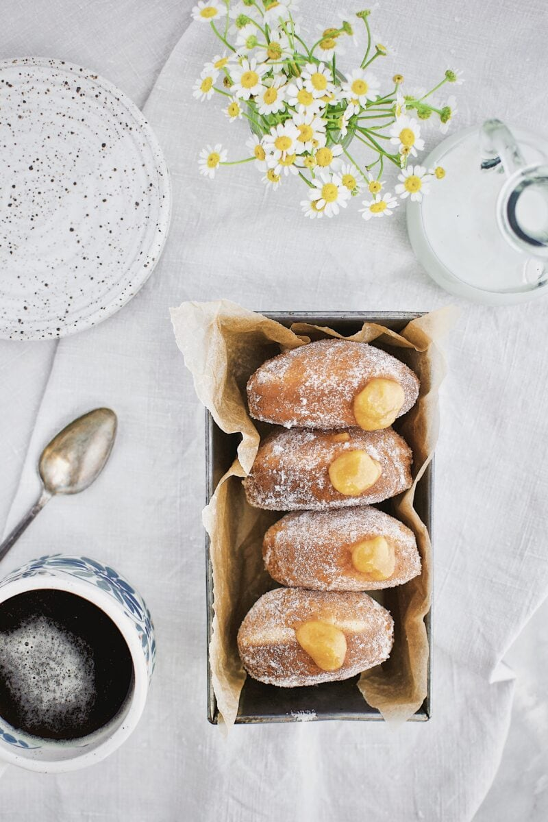 Peach Jelly Donuts