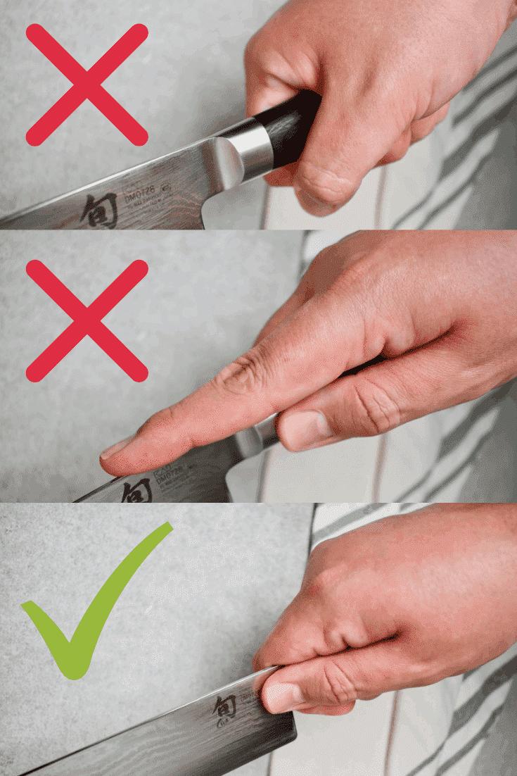 Proper handling of a knife