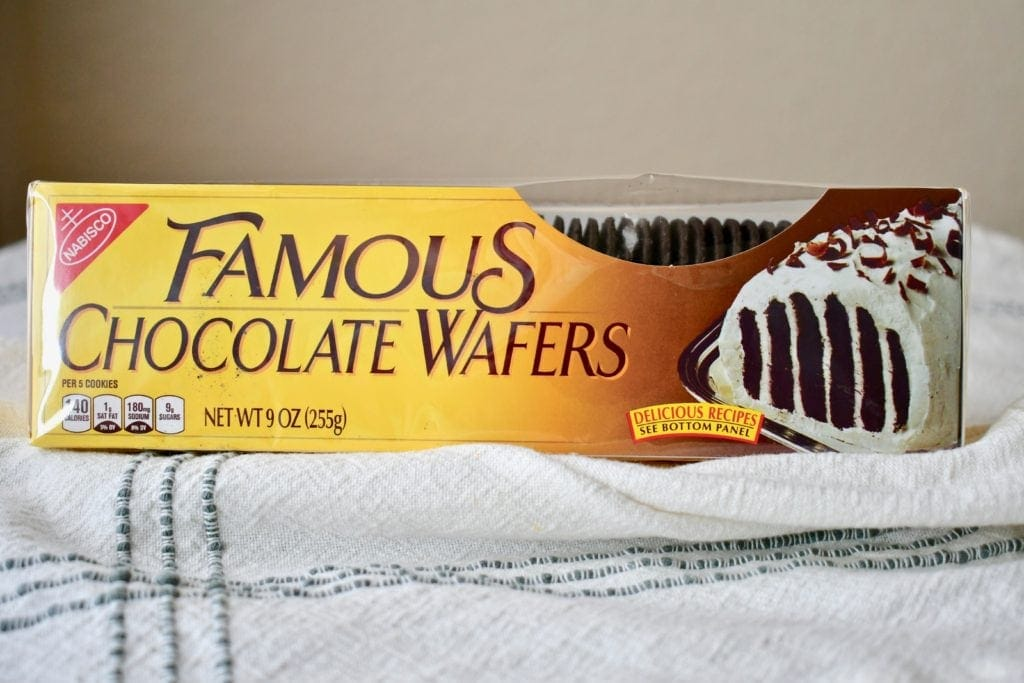 Nabisco Famous Chocolate Wafers in the box