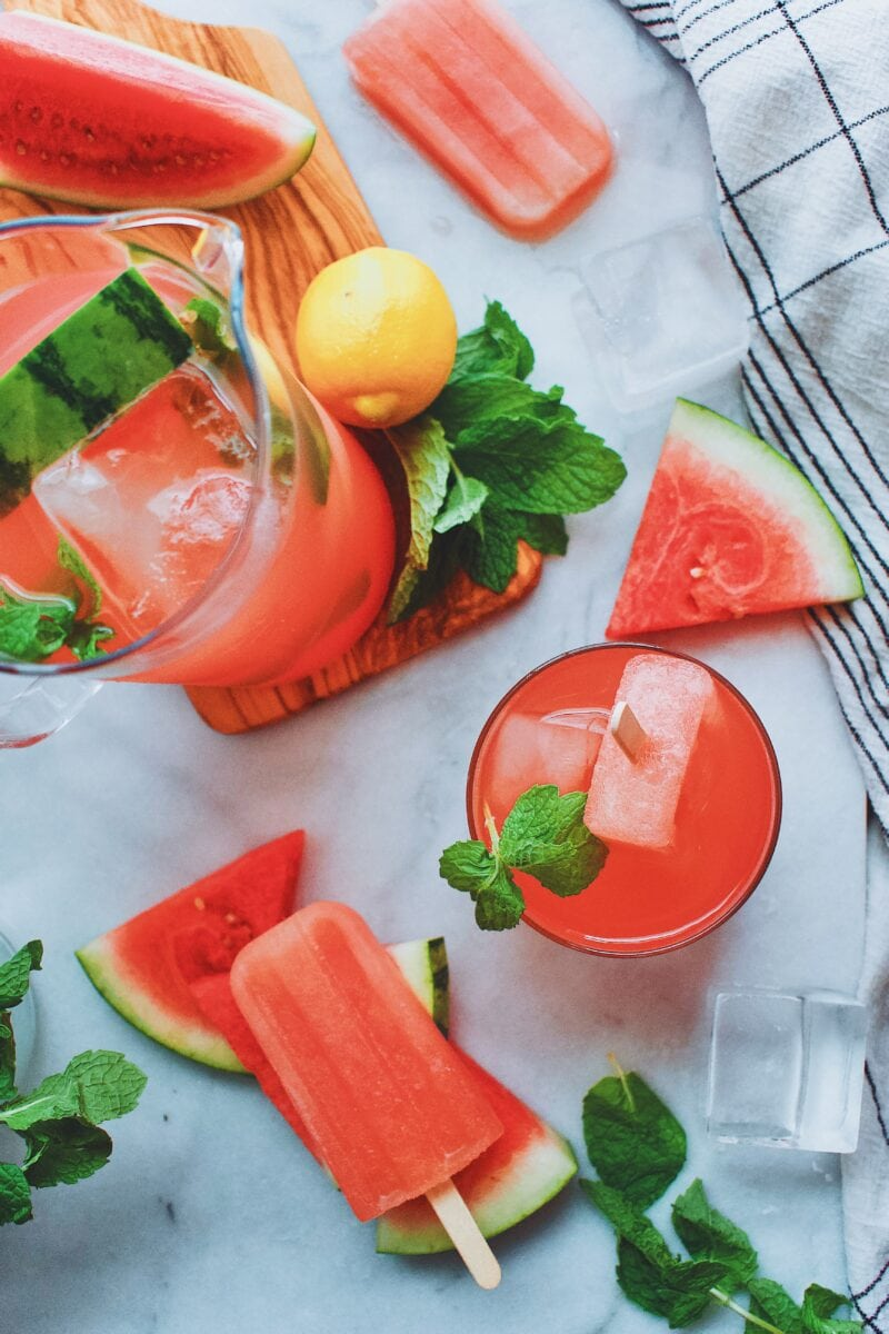 Watermelon Lemonade and Popsicles