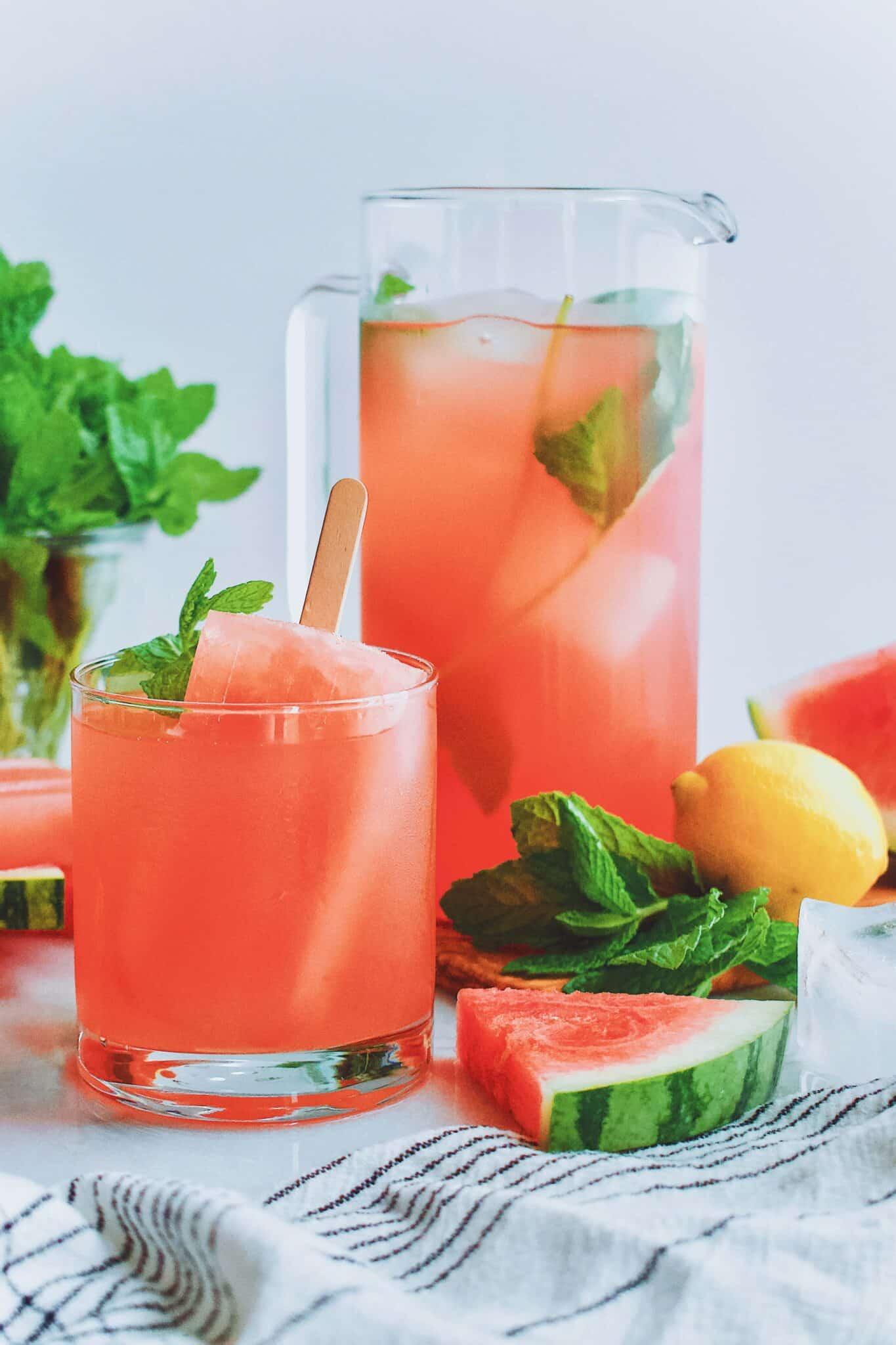 Watermelon Lemonade and Popsicles