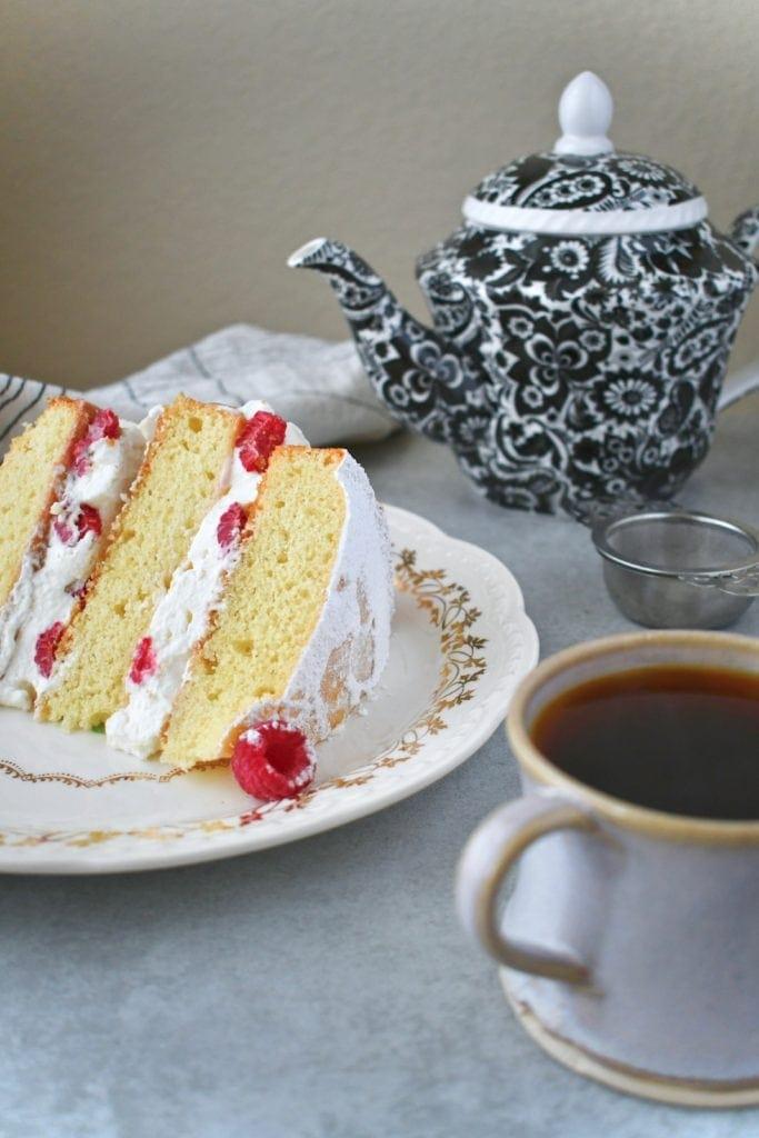 Victoria Sandwich cake and Irish Breakfast Tea