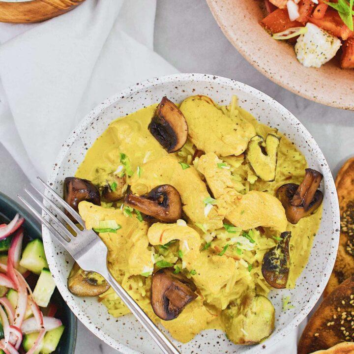 Mediterranean Chicken and Mushrooms