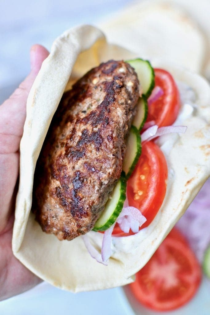 Greek Lamb Burger
