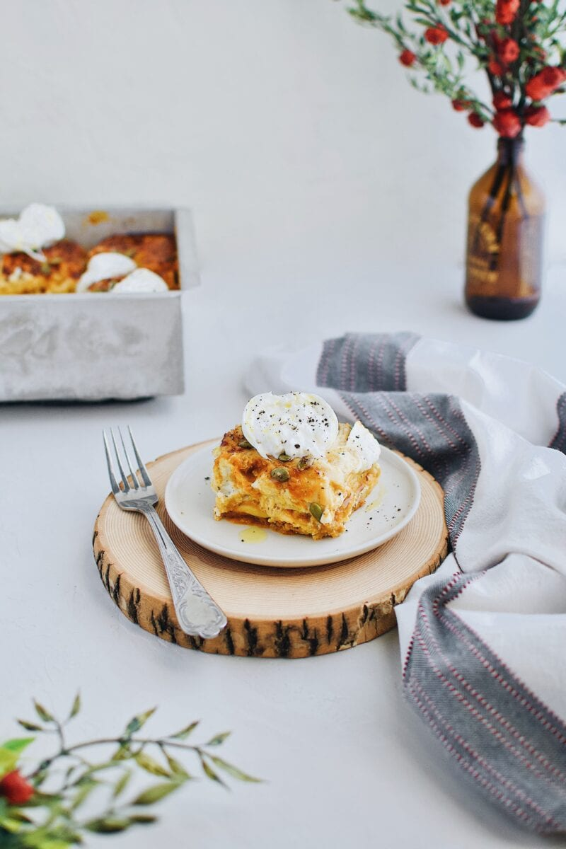 Pumpkin Beer Cheese Lasagna Kendellkreations