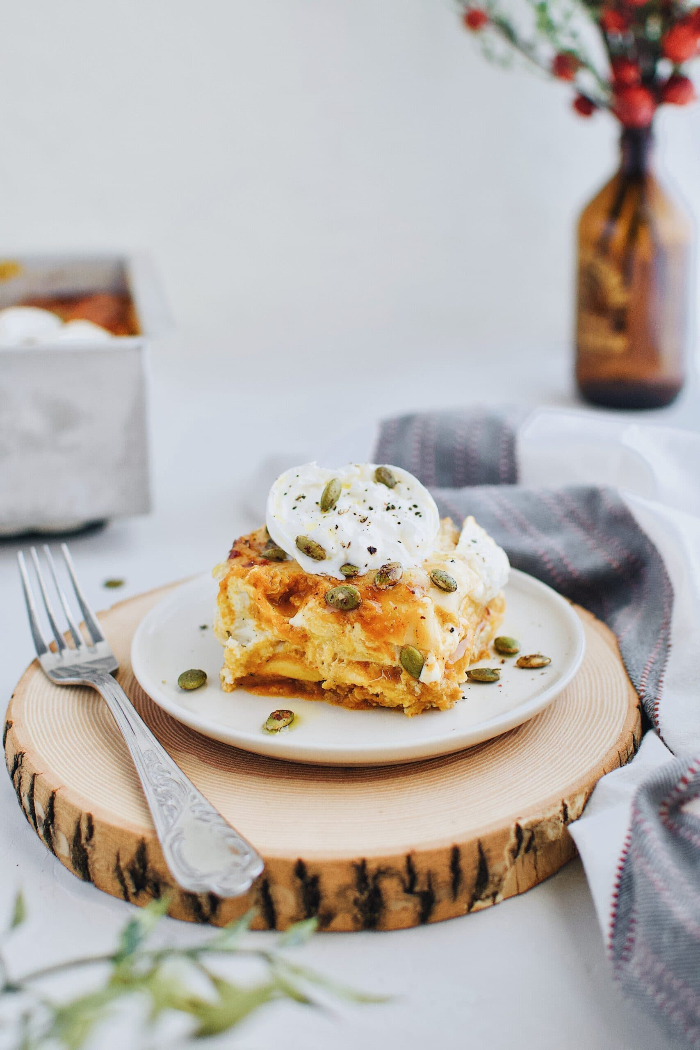 Pumpkin Beer Cheese Lasagna