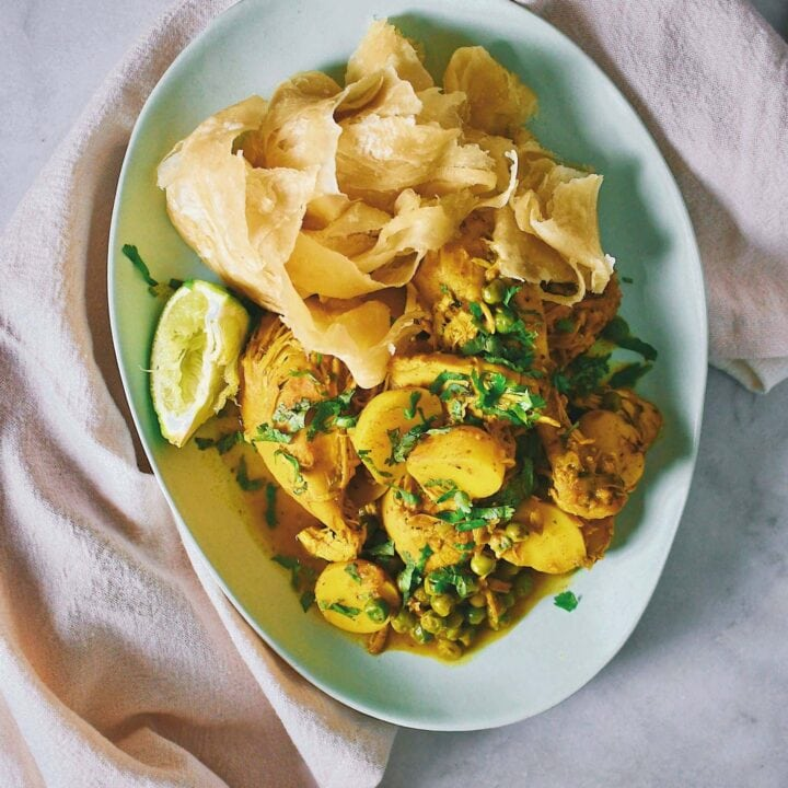 Homemade Curry Chicken shared by my friends from the island of Trinidad.