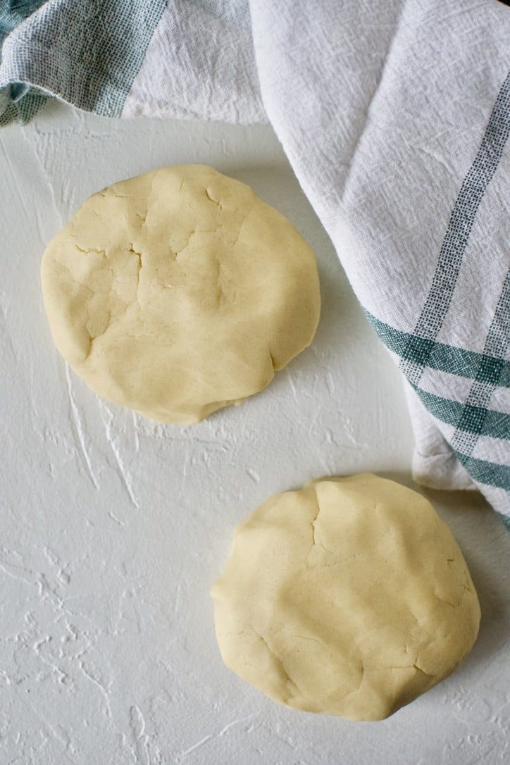 Irish Shortbread biscuit dough resting.