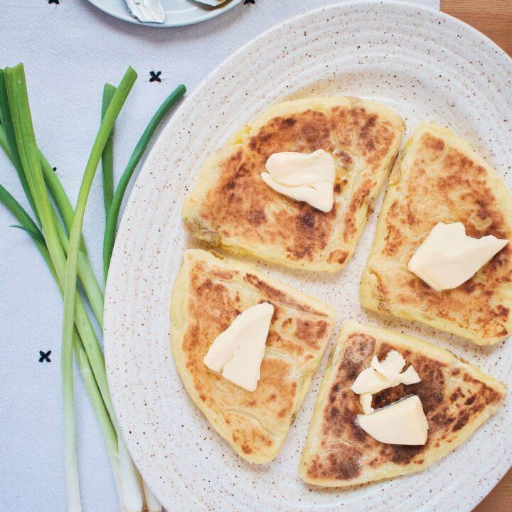Irish Potato Bread with Irish butter on top.