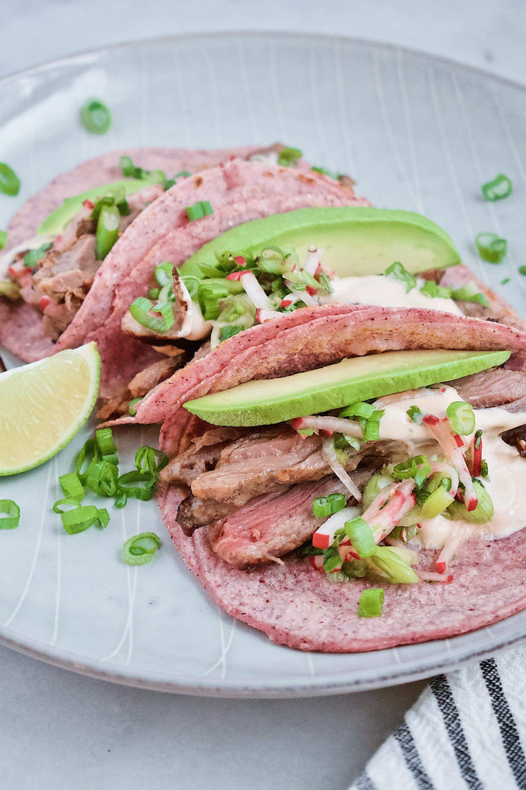 Joanna Gaines Steak Tacos with homemade corn tortillas
