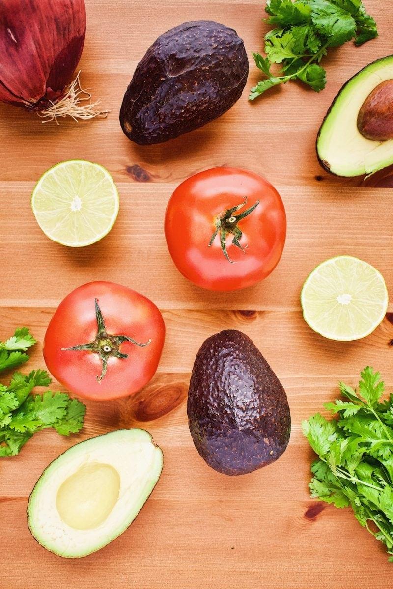 Avocado Salsa ingredients