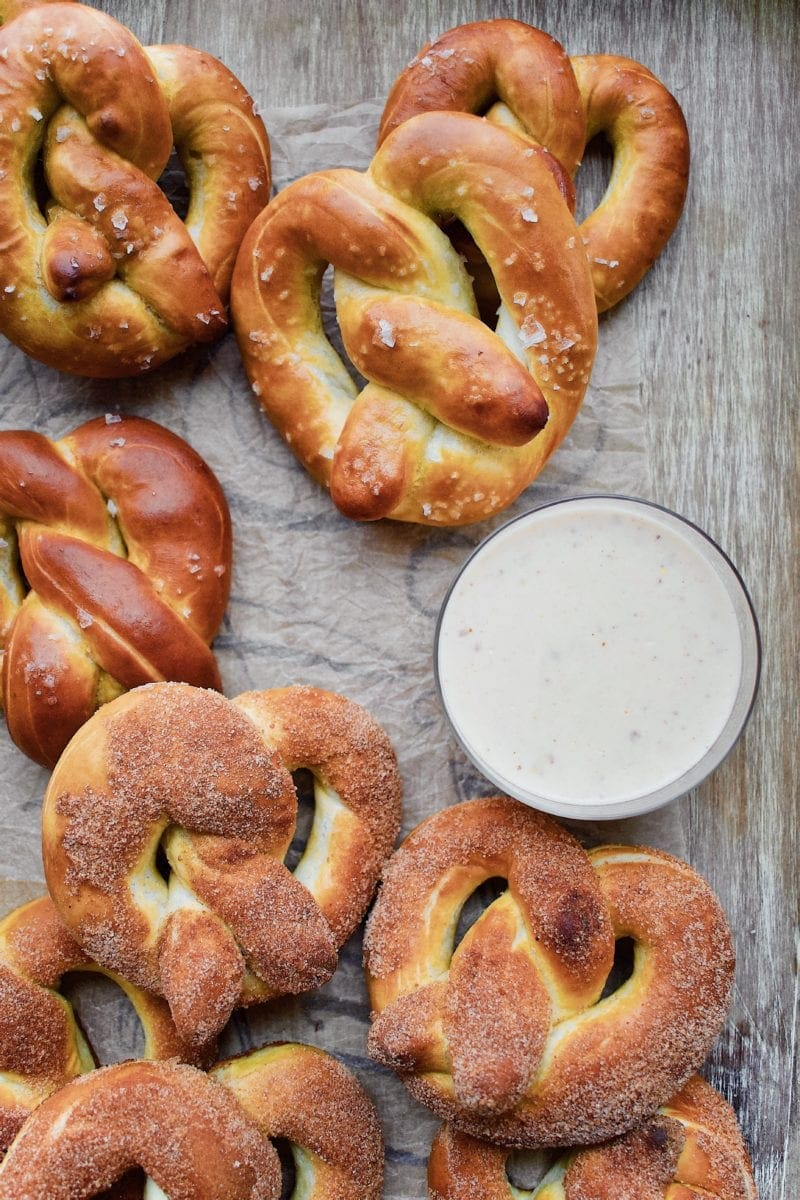 Joanna Gaines Salted and Cinnamon Sugar Pretzels