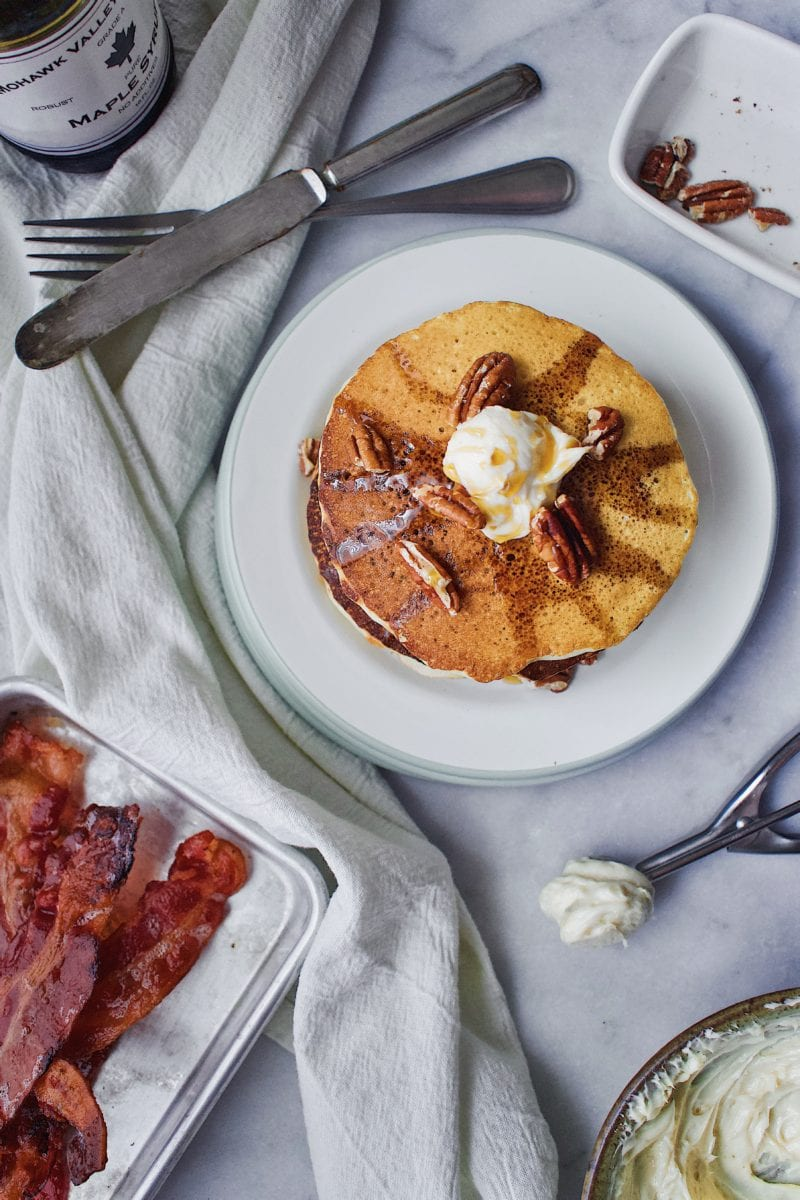 Joanna Gaines Pecan Pancakes with Maple Butter