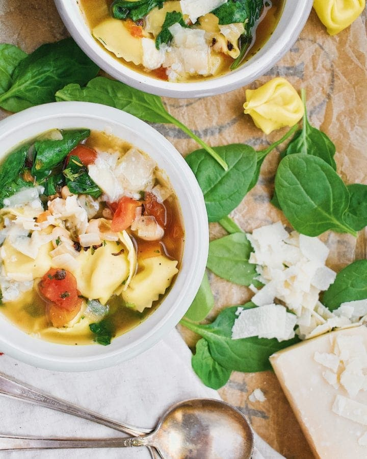Joanna Gaines Spinach Tortellini Soup