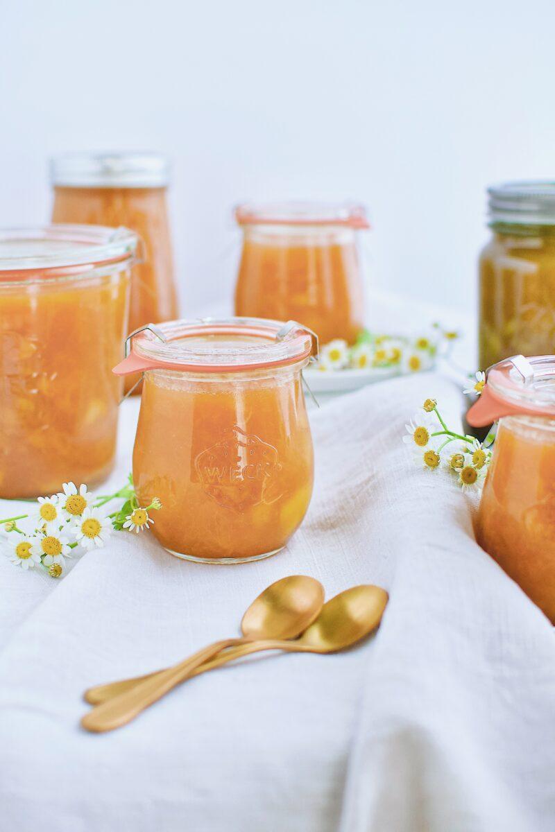 Bourbon and Brown Sugar Peach Jam