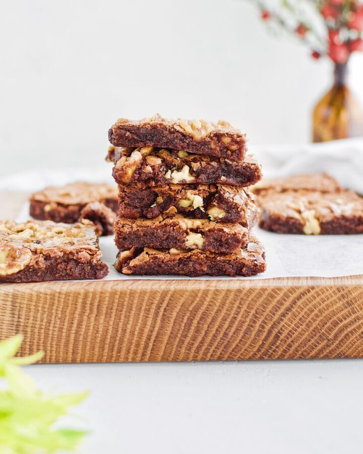 Classic Fudgy Walnut Brownies