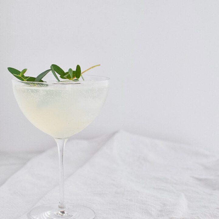 Sparkling Pear and Elderflower Lemonade