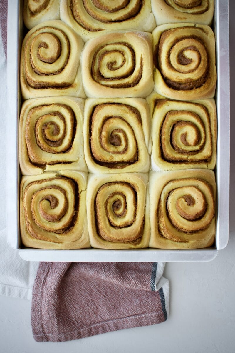 Pumpkin Spice Cinnamon Rolls straight from the oven