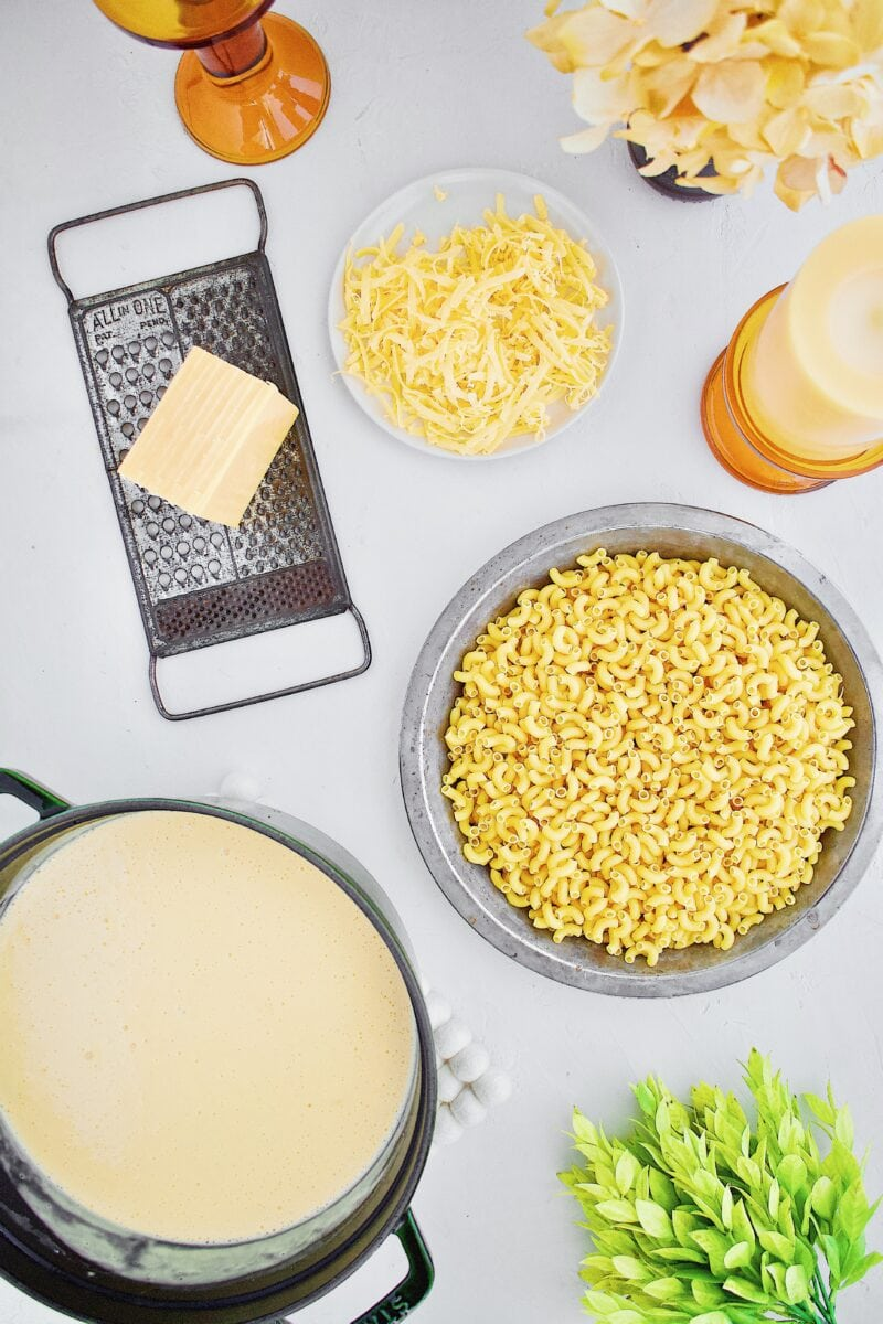 Mac n' Cheese ingredients