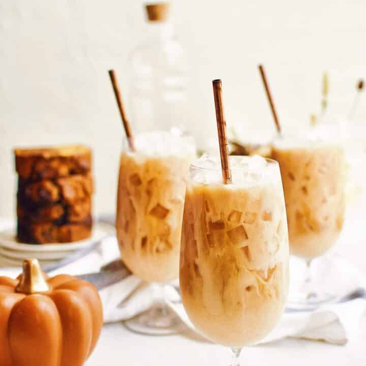 Pumpkin Spice Chai Latte over ice