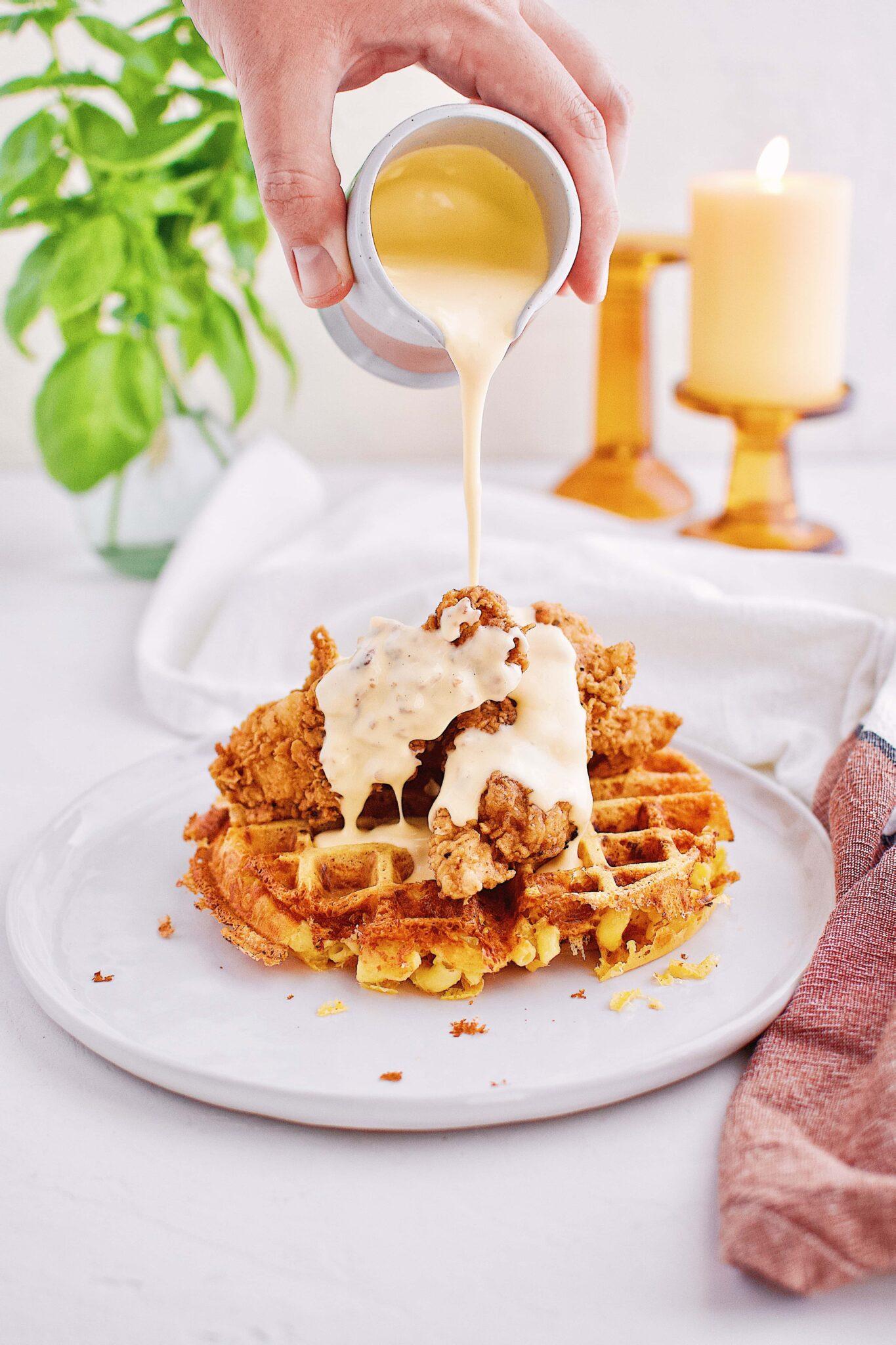 Chicken & Mac n' Cheese Waffle