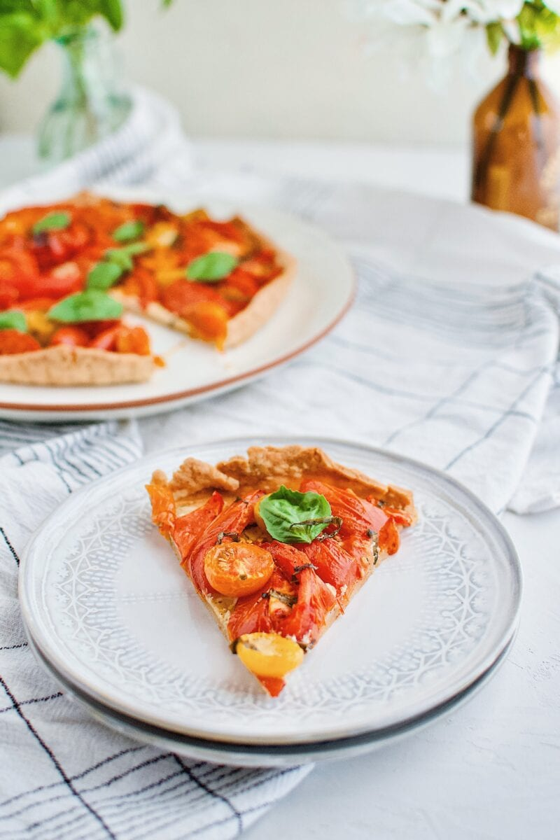 large slices of Roasted Tomato Tart