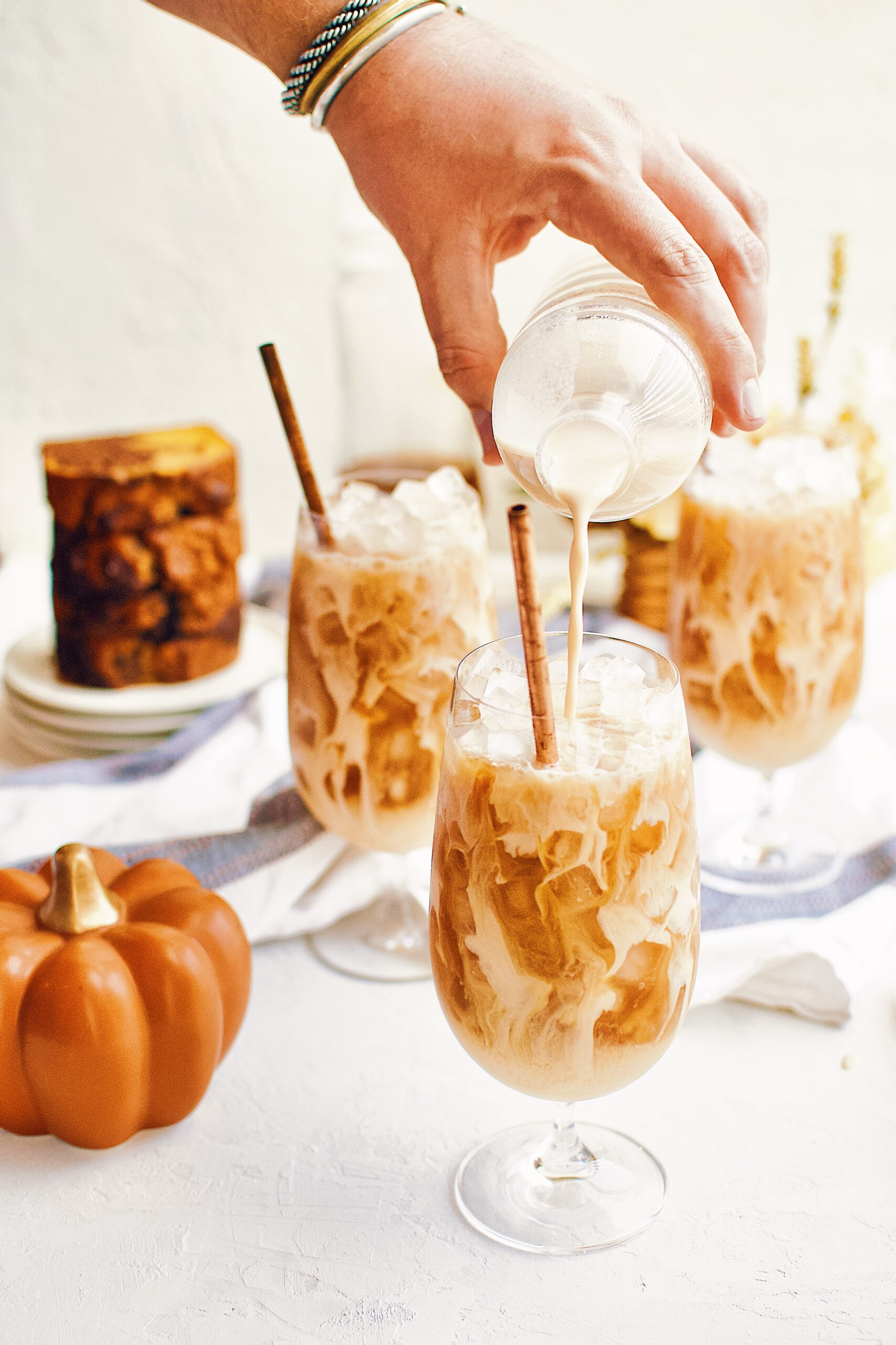 Pumpkin Spice Chai Latte over ice