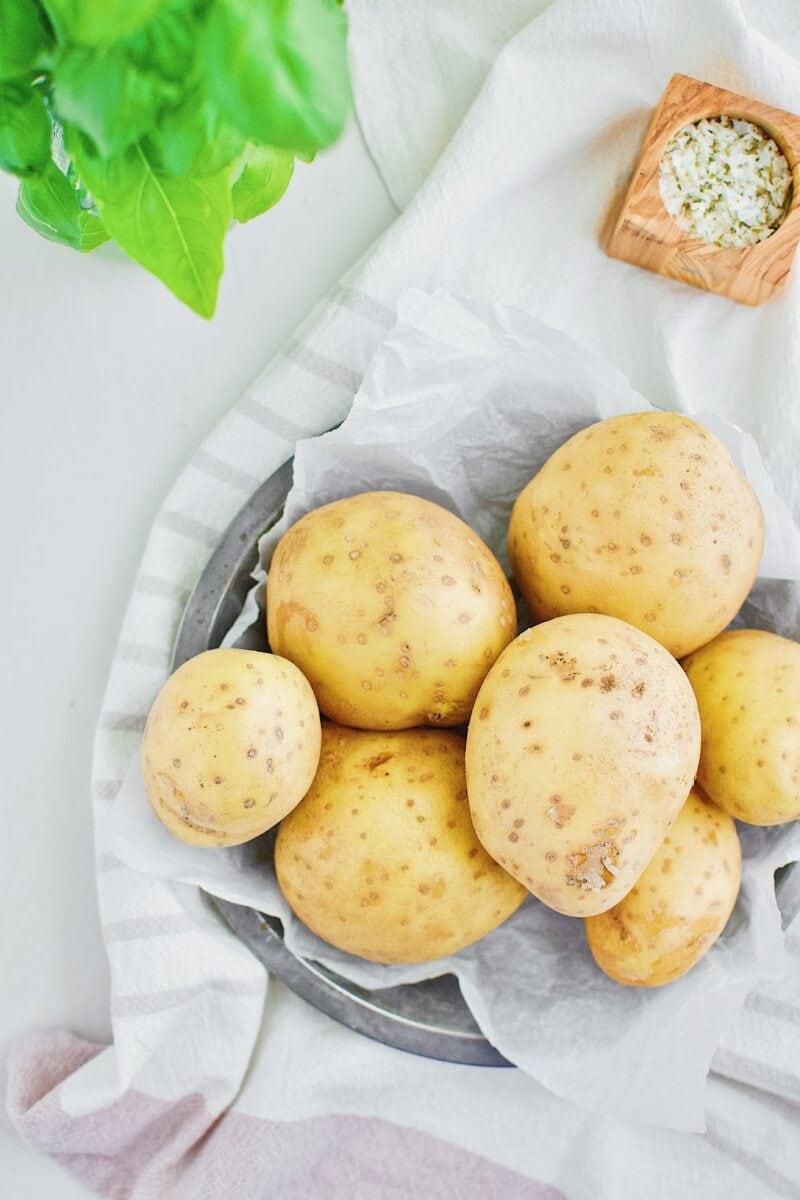 Cleaned yukon gold potatoes