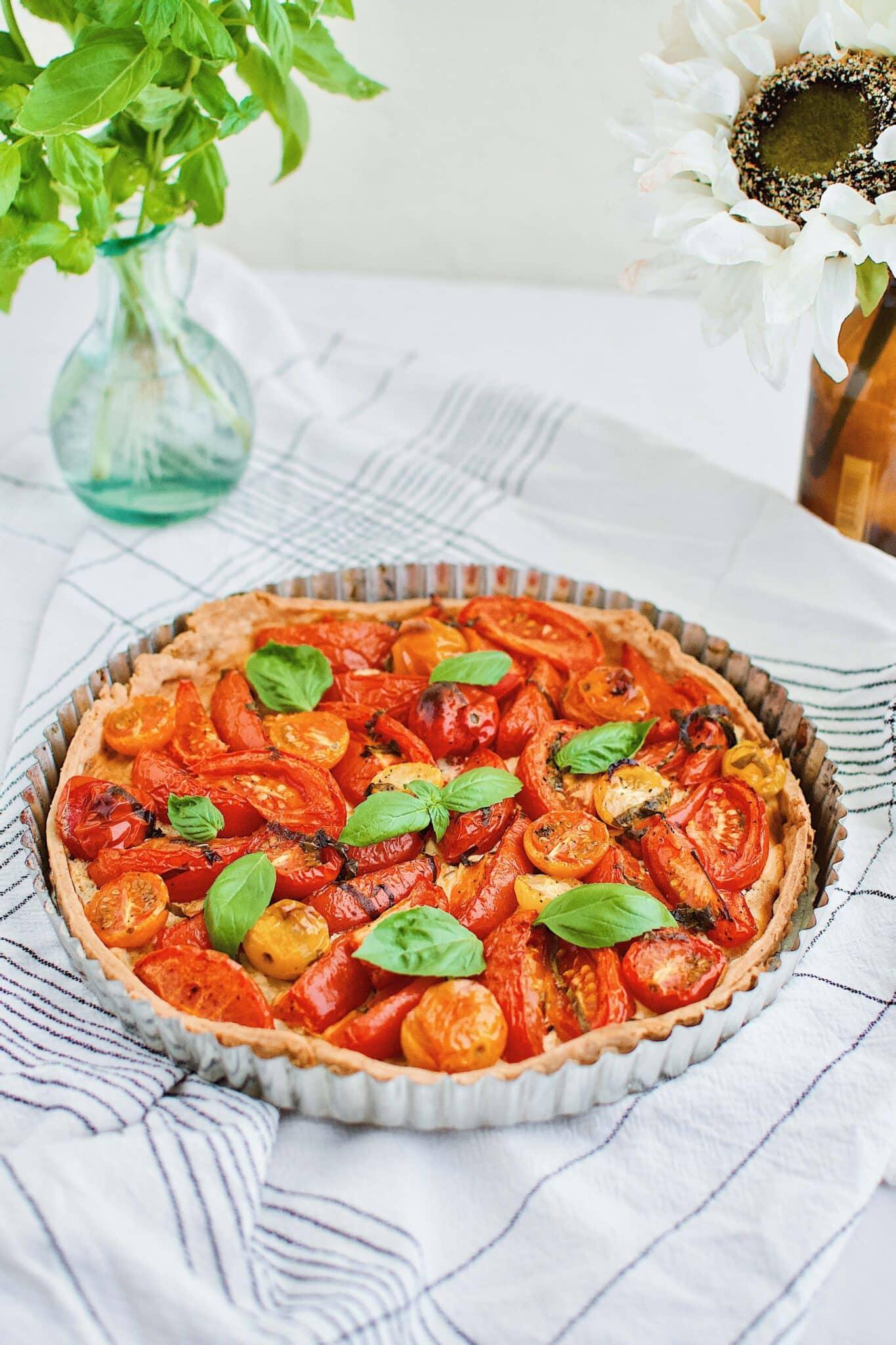 Roasted Tomato Tart with Parmesan Pie Crust