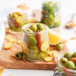 Marinated Olives in brine
