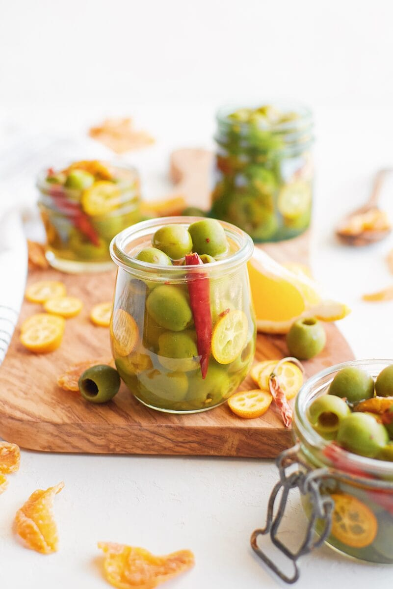 Marinated Olives in brine