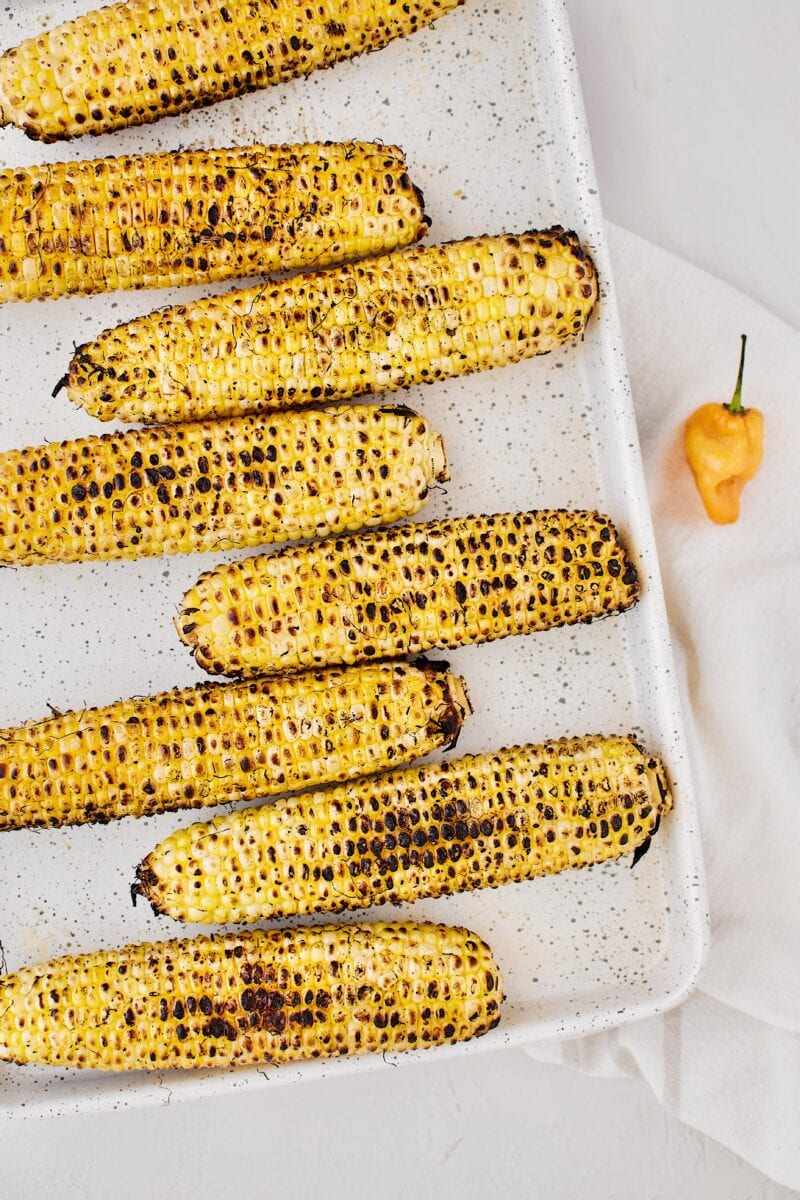 corn just off the grill