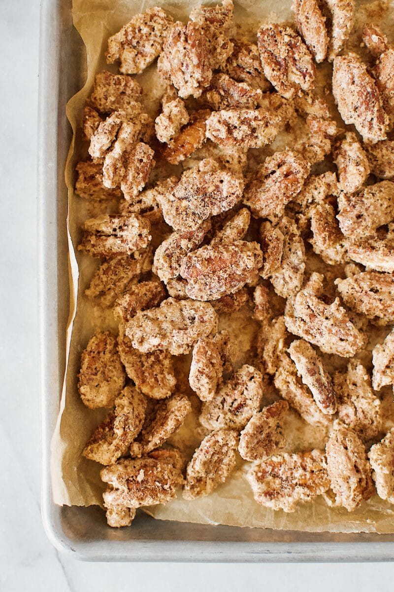 Pumpkin Spice Praline Pecans ready to eat