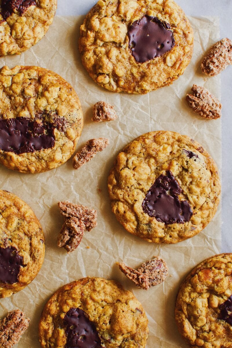 Pumpkin Chocolate Chunk Oatmeal Cookies