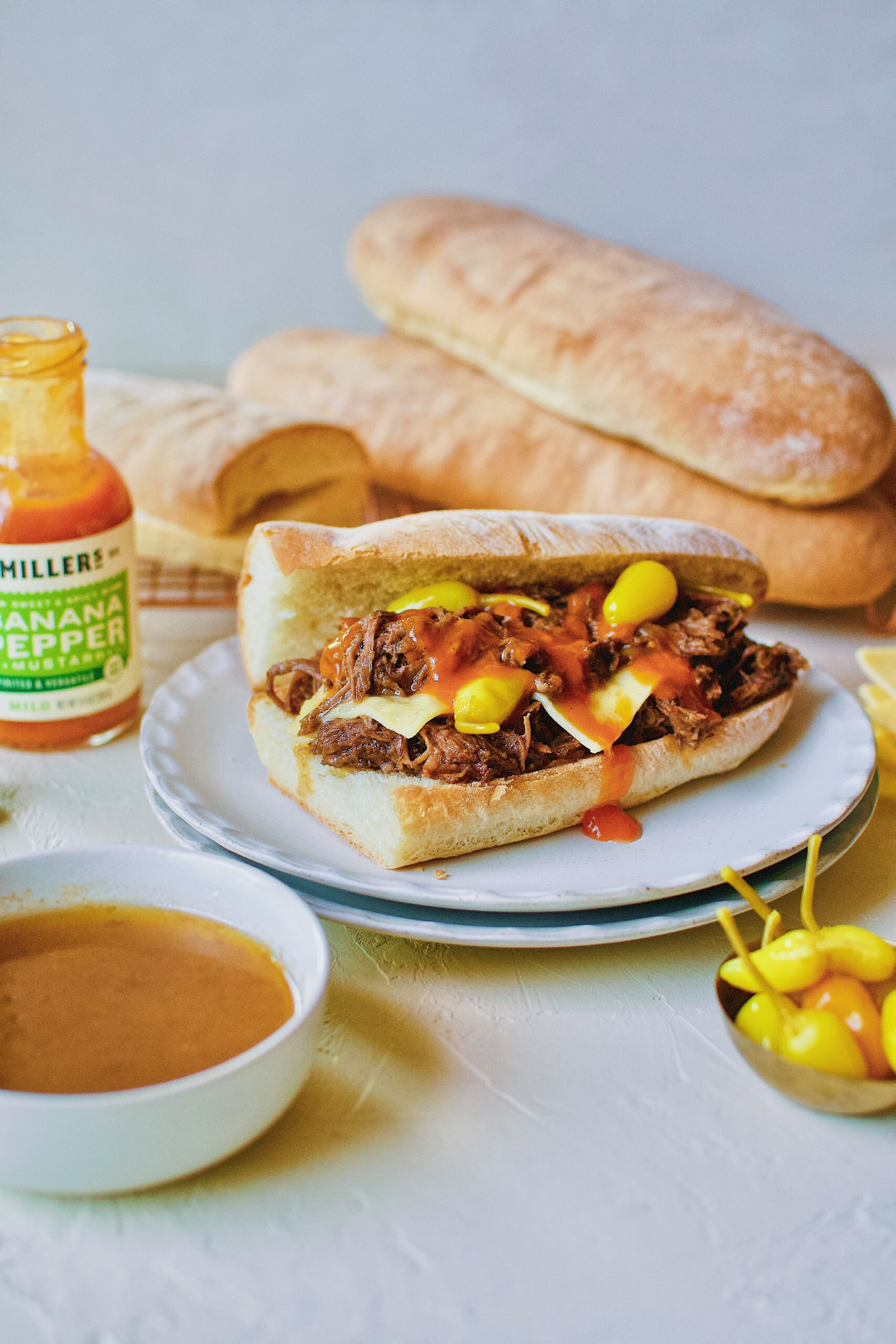 Pot Roast Sandwich served with au jus.