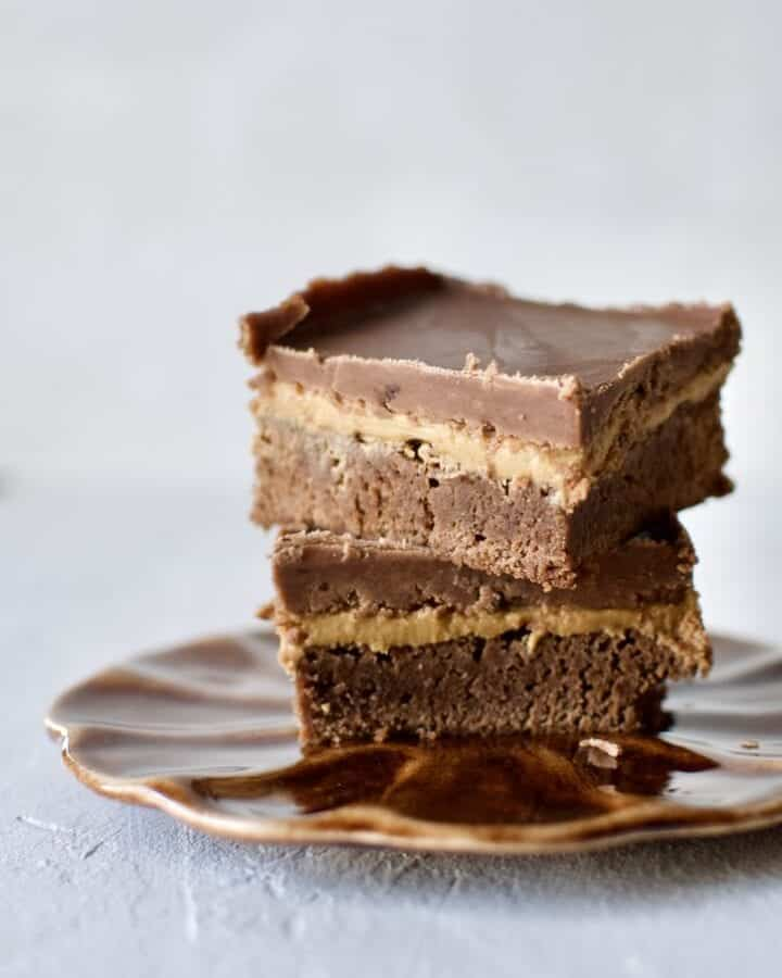 Joanna Gaines recipe for Lucy's Peanut Butter Brownies from the Magnolia Table Cookbook Vol. 2.