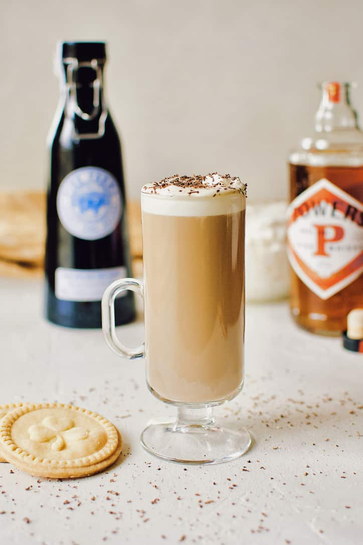 Freshly made Irish Coffee