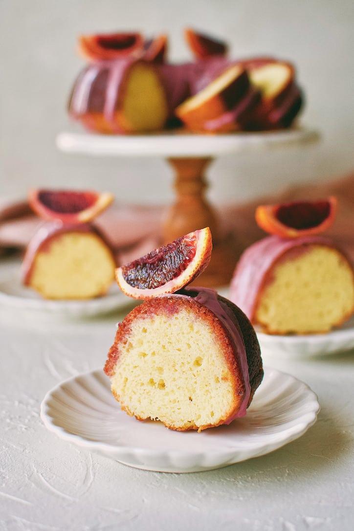 Yogurt Cake with Blood Orange Glaze