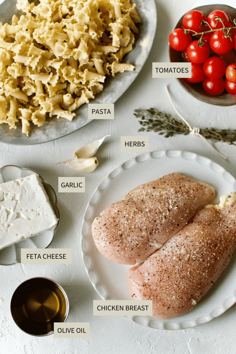 Baked Feta Pasta Ingredients