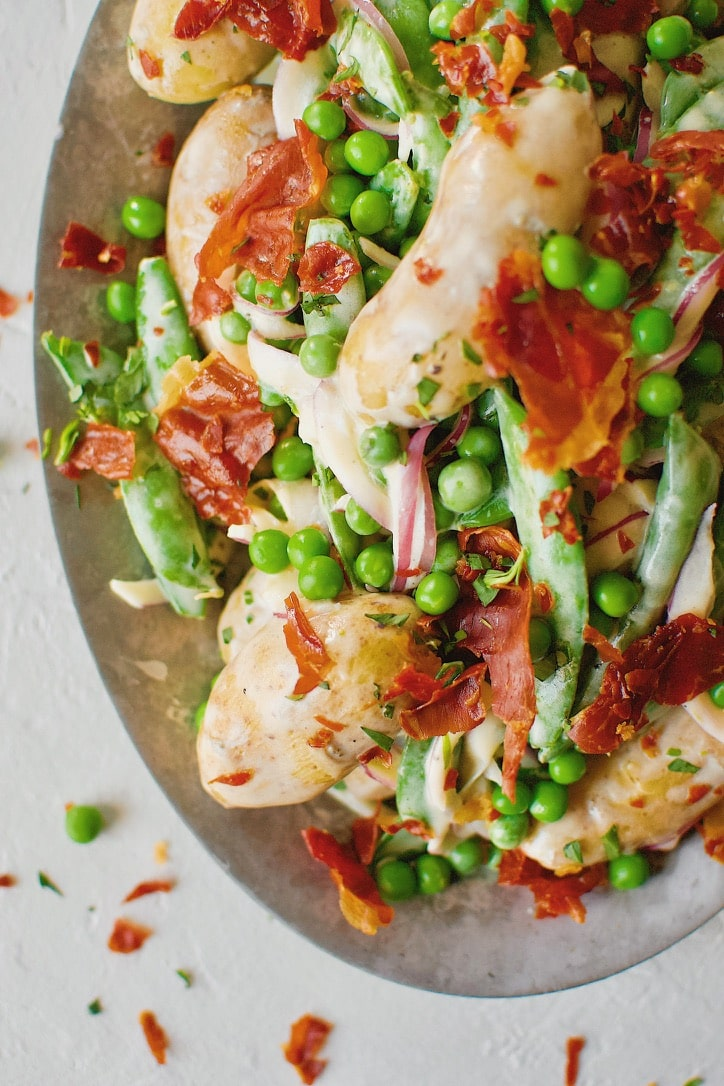 Spring Potato Salad with Peas and Prosciutto
