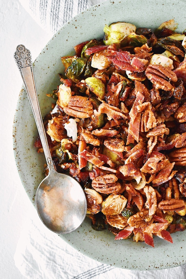 Joanna Gaines Brussels Sprouts from her Magnolia Table Cookbook, prepared by Kendell Kreations