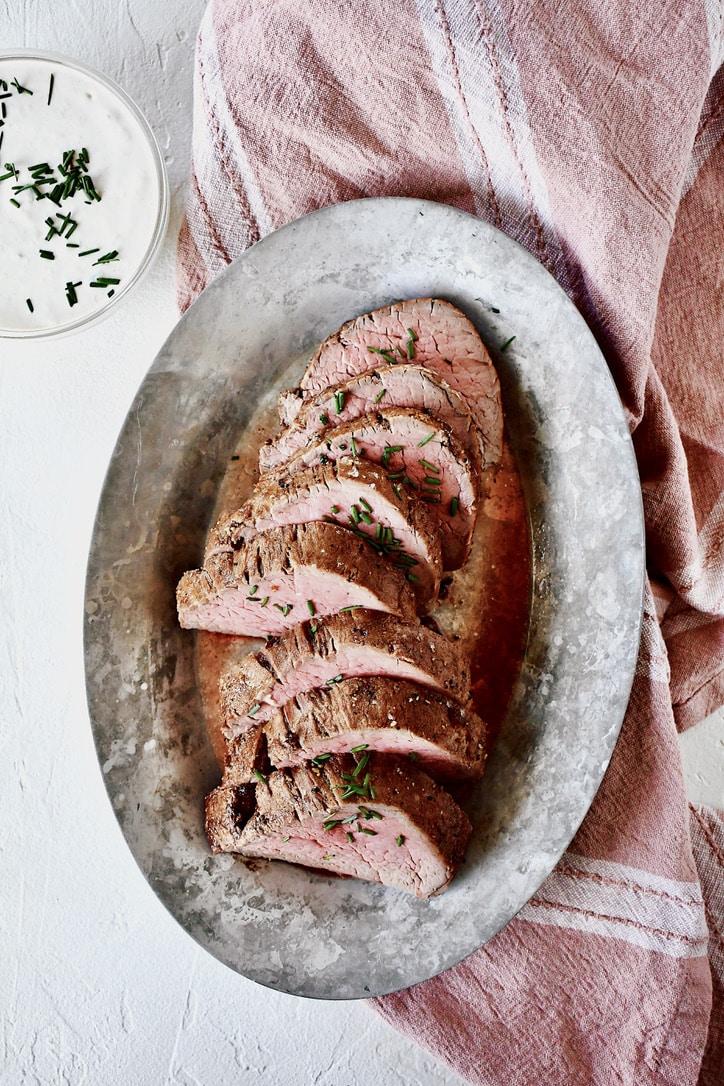 Joanna Gaines Beef Tenderloin with Horseradish Cream | prepared by KendellKreations
