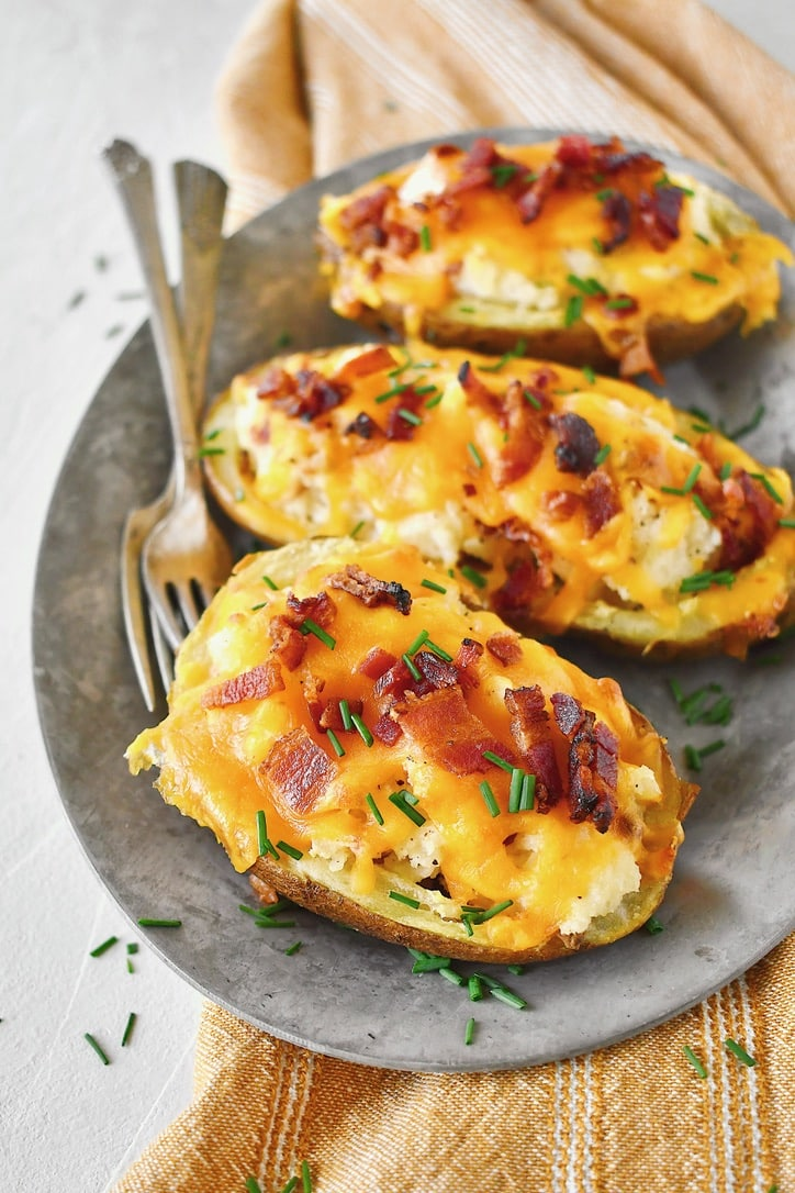 Joanna Gaines recipe for Twice-Baked New Potatoes prepared by KendellKreations.com