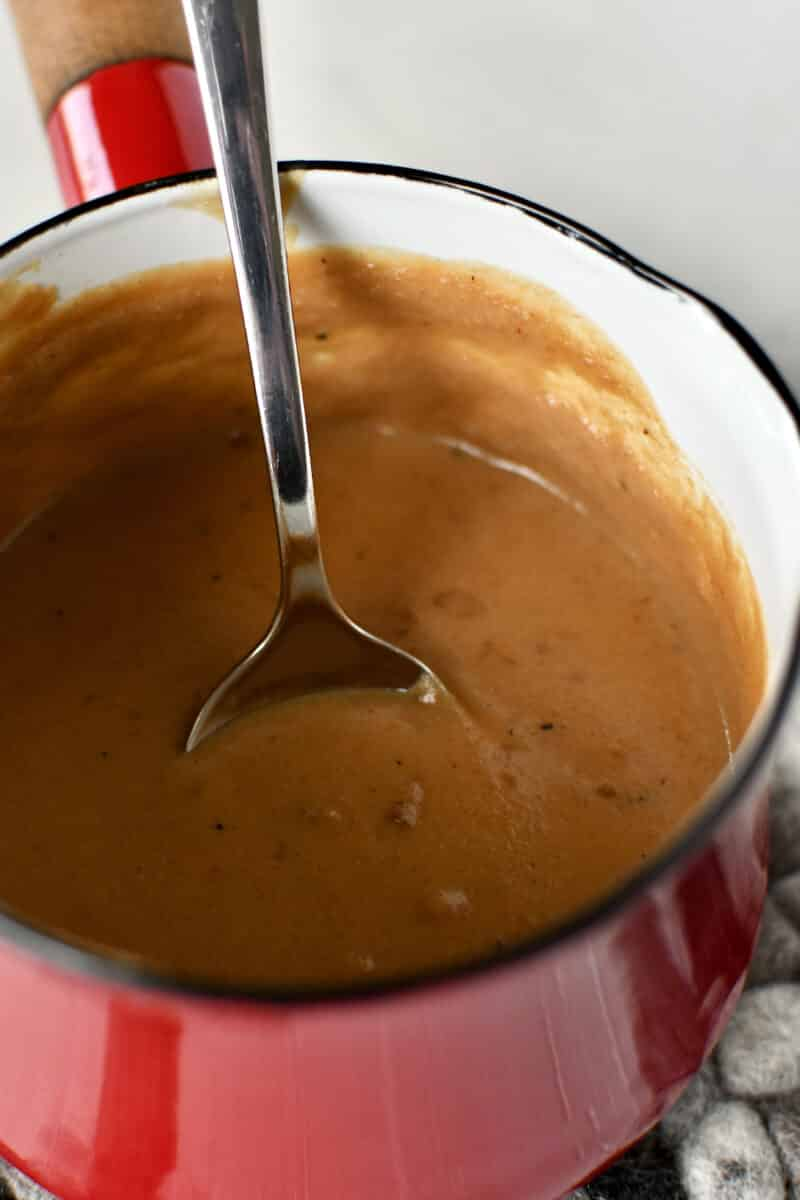 Pineapple Peanut Sauce for the Chicken Skewers.